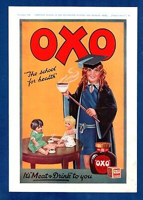 "OXO - ""The School of Health""    (1929 Advertisement)"
