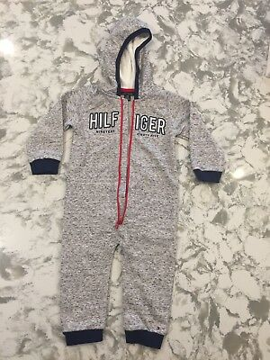 Tommy Hilfiger Coverall Hooded, Gray, 24 month,1 piece outfit Free shipping 1218