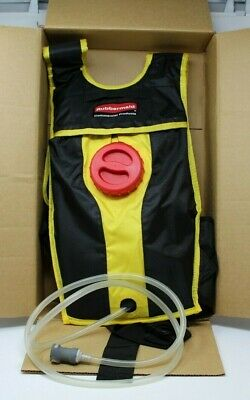 Rubbermaid Commercial Flow Floor Finishing Mop Kit Backpack & Bladder New In Box