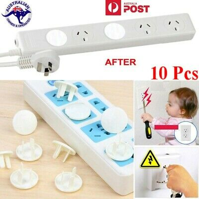 10 pcs  Baby Toddler Child Proof Electric Outlet Socket Plug Cover--Shock Safety