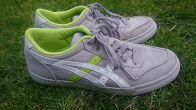 Onitsuka Tiger Aaron canvas grey, white & green sneakers boys (UK4.5, EU37.5)