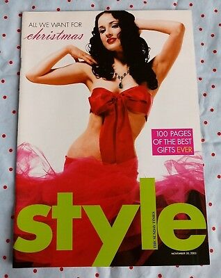 Dita Von Teese Style Magazine November 30 2003 Rare One Day Only Tease Burlesque