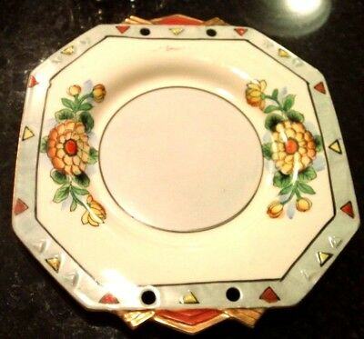 Vintage Japanese  Plate With UNUSUAL Border - GOLD TRIM