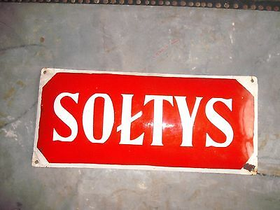 Vintage enamel sign Polish Soltys