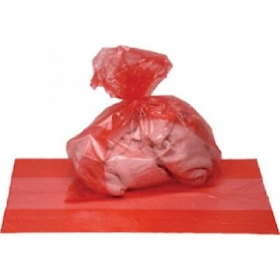 Red Alginate Bags Washable Laundry Bags - Dissolving Bags - 50 / 100 / 200 Packs