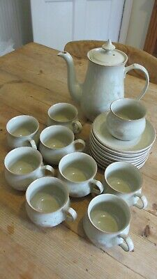 Denby Daybreak China - Coffee Pot/8 x Cups/8 x Saucers/Sugar Bowl