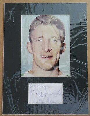 TOMMY GEMMELL CELTIC 1967 EUROPEAN CUP WINNER SIGNED 16 x 12 MOUNTED DISPLAY COA