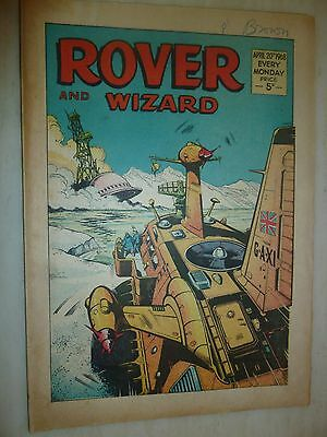Comic- THE ROVER and WIZARD - 20th April 1968