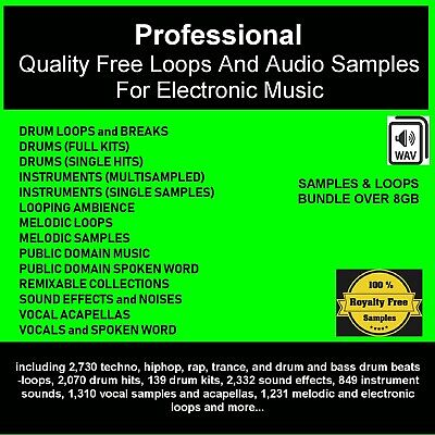 PROFESSIONAL QUALITY DJ free loops and audio samples for electronic music