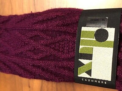 6bc24cd652b5d Ilux Cashmere Blend Wine Cable Knit Knee Length Socks Sizes 5-10 Bnwt $39.00