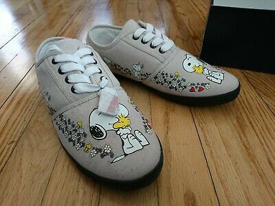4c885f362d GENTLY USED SNOOPY Peanuts Library Books Reading Tennis Shoes ...