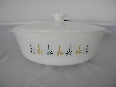 Vintage Anchor Hocking Fire King Candle Glow 1 1/2 Qt Casserole (# 437) with Lid