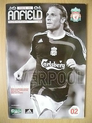 2007 UEFA Champions' League - LIVERPOOL v TOULOUSE~ Official Programme