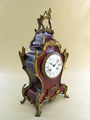Antique French Boulle Clock. Stamped Ollivant & Botsford on Dial.