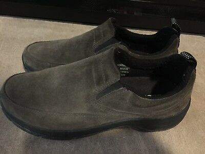 0f3f2026988 LL Bean Olive Green Suede Slip on Loafers Casual Comfort Shoes Womens Size  8 M