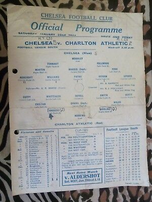 1944 Football League South Chelsea v Charlton Athletic - 22nd January