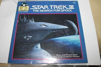 "STAR TREK III Search For Spock 24-Page Book and Record 1983 33rpm 7"" Record #463"