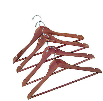 Household Essentials 26140 CedarFresh Red Cedar Wood Clothes Hangers With Fixed