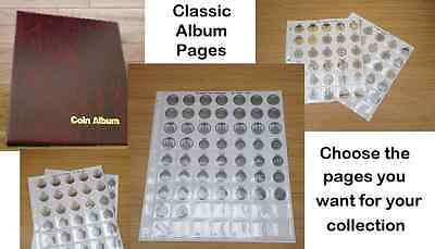 Classic Coin Album Update Pages For Sharman Coin Pages