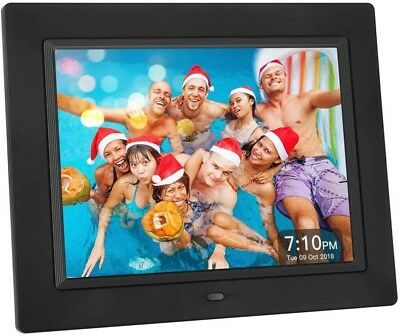 Crosstour Digital Photo Frame 8' Photo & Music 4:3Wall Mountable with Remote