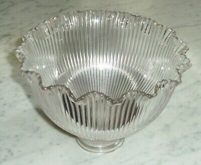 Vintage SIGNED Holophane Glass Shade for Lamp or light Fixture 2 1/4in Fitter