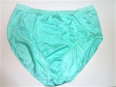 b1f91e83396e Vtg Just My Size Seafoam Green Full Cut Sz 13 Silky Shiny Sheer Nylon  Panties