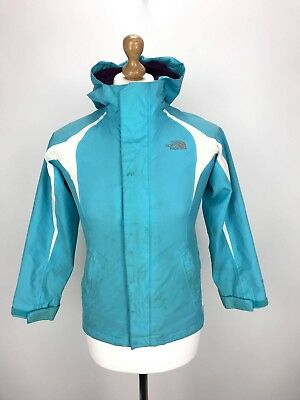 THE NORTH FACE Girls HYVENT Jacket | Kids Hooded Waterproof | Medium 10-12 Blue