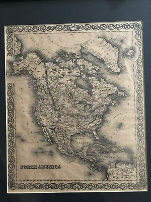 J H Colton Map Vintage Map Of North America