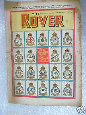 THE ROVER Comic, No.1412, 19th July 1952- More Squadron Badge of the Royal Air F
