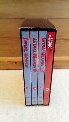 Lethal Weapon 1, 2, 3 & 4 - The Complete Film Collection DVD Boxset - Mel Gibson
