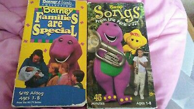 BARNEY FAMILIES ARE Special(VHS,1995)TESTED-RARE VINTAGE COLLECTIBLE- + 1  other