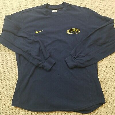 df101dcc NIKE Cal Bears Track And Field T Shirt Thermal Adult Small Blue Long Sleeve  Mens