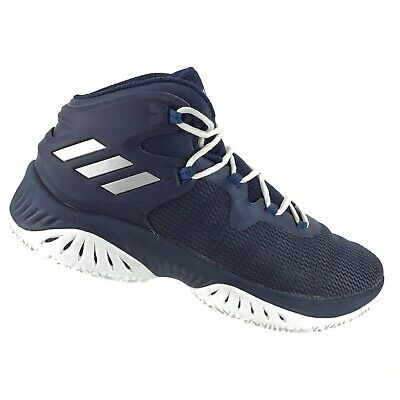1f5198a26fbf6 Adidas Explosive Bounce Basketball Sneakers Navy Blue White Mens 9 Shoes  AS10