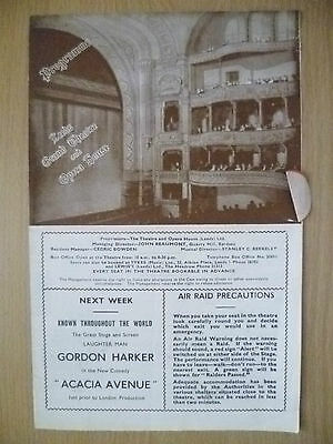 Leeds Grand Theatre & opera House 1943- THE MAN WHO CAME TO DINNER~G S Kaufman