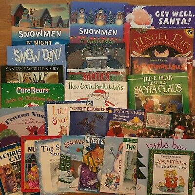 Snowmen At Christmas.Lot 25 Days Of Christmas Winter Snow Childrens Picture Books Snowmen At Night