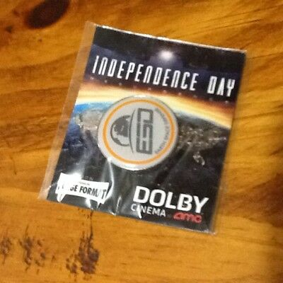Independence Day AMC Opening Night Promo Movie Pin NEW ESD Earth Space Defense