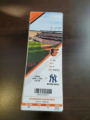 Sanchez 3 HR - Baltimore Orioles Yankees MINT Season Ticket 4/7/19 2019 MLB Stub