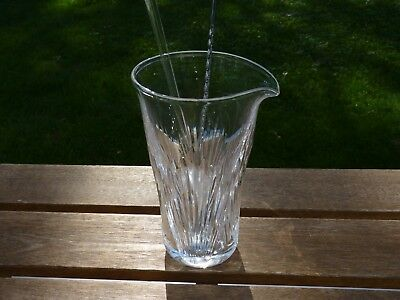 Vintage Lalique Crystal Cut Martini Mixer With Stirrer Stick
