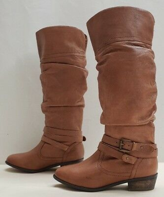 0dd2f793649 STEVE MADDEN CASSTRO ladies womens leather ruched boots Size 3.5 EU 36 US  5.5B