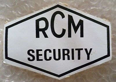 Patch- VINTAGE RCM Royal Canadian Mounted Security Sticker (USED*)