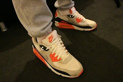 huge discount 31ad9 c2b6e MENS LADS RARE 2010 Nike Air Max 90 InfraRed trainers shoes size 11 12 worn  used - EUR 106,13   PicClick FR
