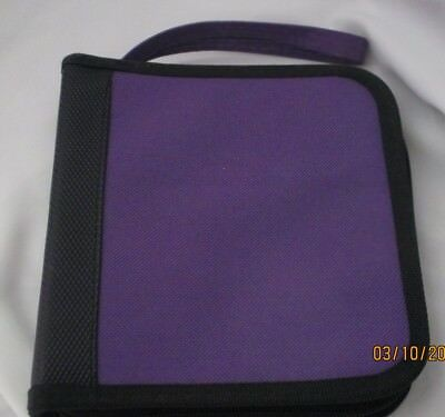 12 Disc CD DVD Nylon Carrying Case purple