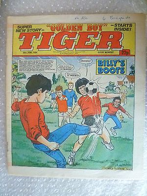Comic- Tiger , 16th June 1984- Billy's Boots - The Golden Boy