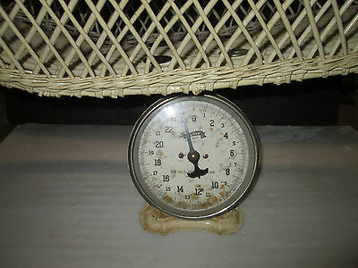 Antique Baby Scale With Wicker Weighing Basket, Jay Bee, Retro Rare