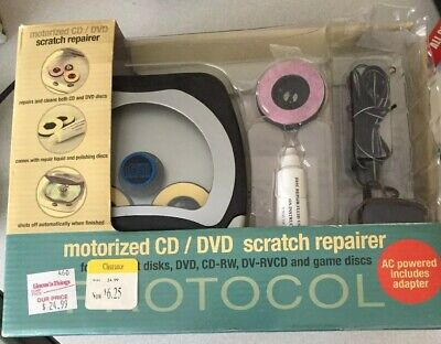 PROTOCOL Motorized CD/DVD/Game Discs Scratch Repairer AC Powered #5552AC NEW