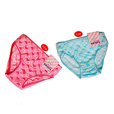 Girls Brief 2 x Pack 100% Cotton Briefs Knickers Underwear Pants 2-6 yrs BARGAIN