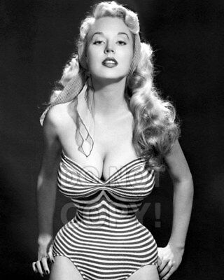 8x10 photo Betty Brosmer 2, pretty sexy 1950s pin-up gal, glamour model, posed