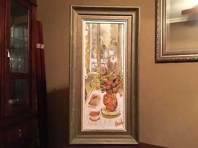 Vintage Mid Century Orig Martin Lowitz Gallery Painting Signed by Artist Paul
