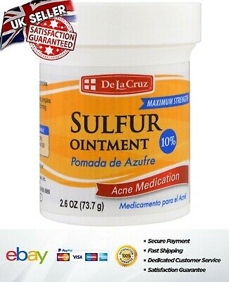 De La Cruz Sulfur Ointment Acne 2.6oz 73.7g NEXT DAY DELIVERY -  UK SELLER