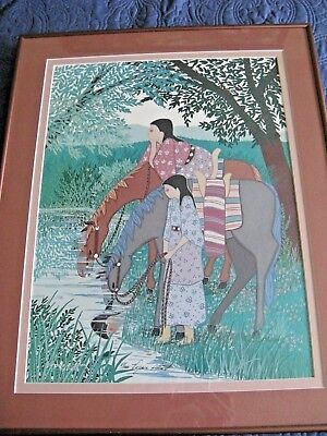 Print by Native American Virginia Alice Stroud titled Quite Time Signed Numbered